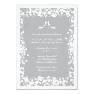 Gray Shoes Bridal Shower Invitation