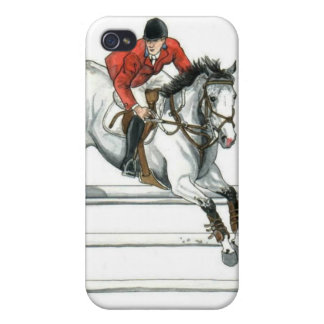 Gray Showjumper over White Oxer iPhone 4/4S Case