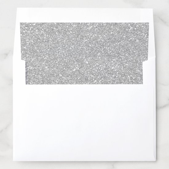 Gray Silver Glitters Sparkles Envelope Liner