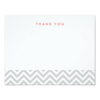Gray Simple Chevron Thank You Note Cards