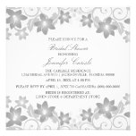 Gray Simple Floral Bridal Shower Invite