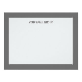 Gray Simple Note 4.25x5.5 Paper Invitation Card