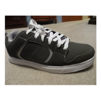 Gray Skateboard Shoe Postcard