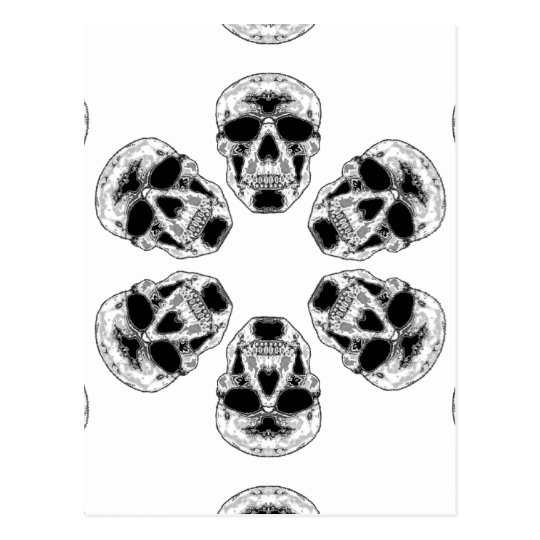 Gray Skull Kaleidoscope Postcard