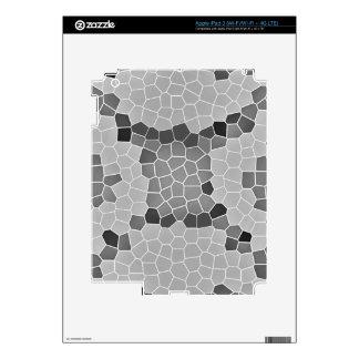 Gray Snakeskin Mosaic Skin For iPad 3