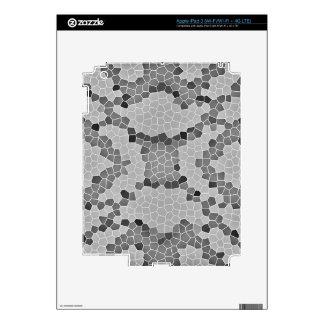 Gray Snakeskin Mosaic Pattern iPad 3 Decals