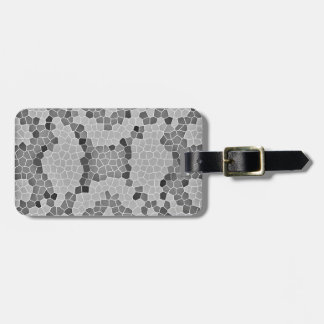 Gray Snakeskin Mosaic Pattern Tags For Bags
