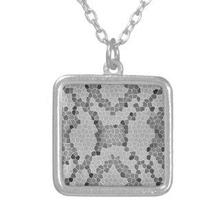 Gray Snakeskin Mosaic Pattern Pendants