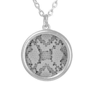Gray Snakeskin Mosaic Pattern Custom Jewelry