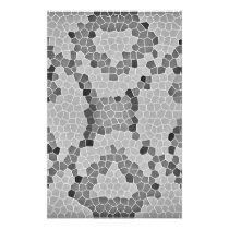 Gray Snakeskin Mosaic Pattern Stationery