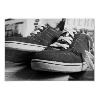 Gray Sneakers Poster
