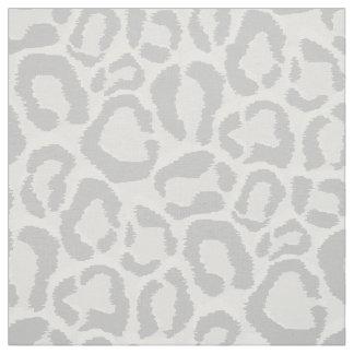 Gray Snow Leopard Animal Print Large Scale Fabric