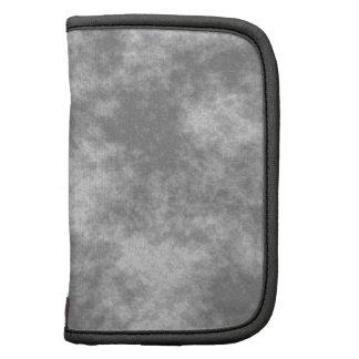 Gray Soft Grunge Design Folio Planner