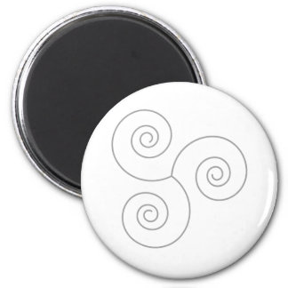 Gray Spiral of Life 2 Inch Round Magnet