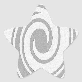 Gray Spiral Pattern Flowing Left to Right Star Sticker