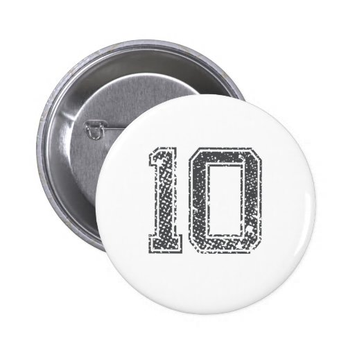 Gray Sports Jersey #10 Pinback Button