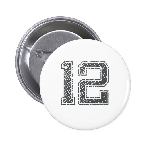 Gray Sports Jersey #12 Buttons