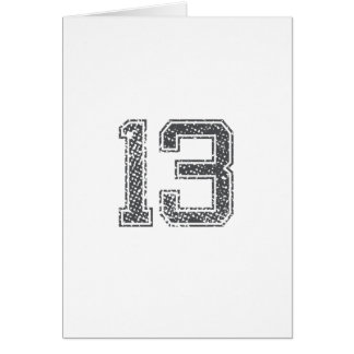 Gray Sports Jersey #13 Card