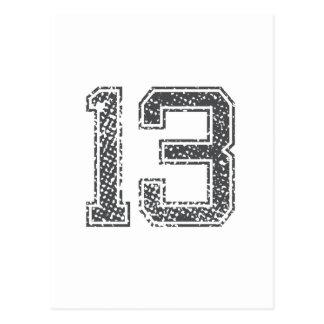 Gray Sports Jersey #13 Postcard