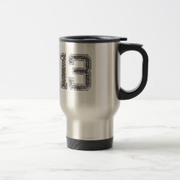 Gray Sports Jersey #13 Travel Mug