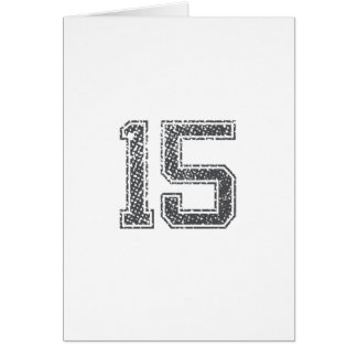 Gray Sports Jersey #15 Card