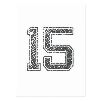 Gray Sports Jersey #15 Postcard