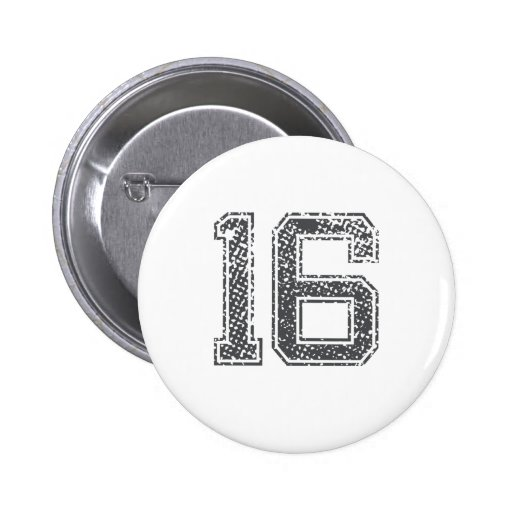 Gray Sports Jersey #16 Button