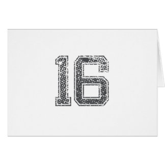Gray Sports Jersey #16 Card