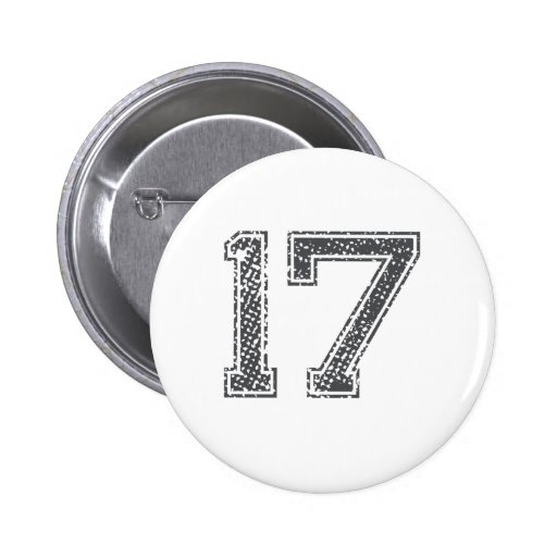 Gray Sports Jersey #17 Button