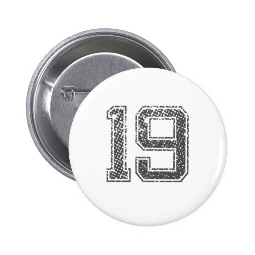 Gray Sports Jersey #19 Buttons