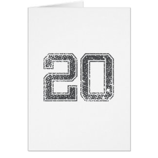 Gray Sports Jersey #20 Card
