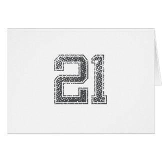 Gray Sports Jersey #21 Card