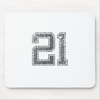 Gray Sports Jersey #21 Mouse Pad