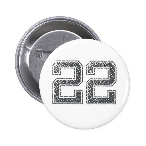 Gray Sports Jersey #22 Pin
