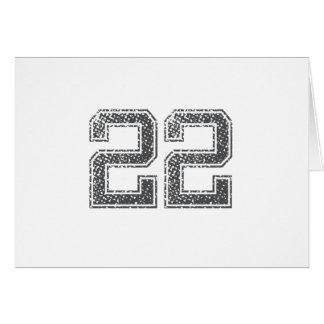 Gray Sports Jersey #22 Card