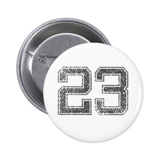 Gray Sports Jersey #23 2 Inch Round Button