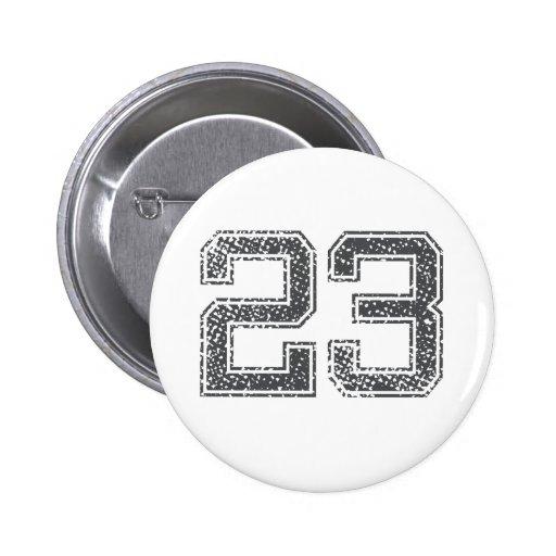 Gray Sports Jersey #23 Pinback Button