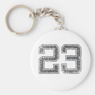 Gray Sports Jersey #23 Keychain
