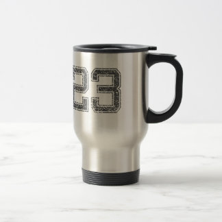 Gray Sports Jersey #23 15 Oz Stainless Steel Travel Mug