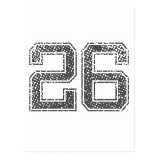 Gray Sports Jersey #26 Post Card