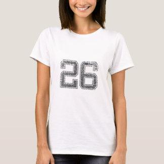 Gray Sports Jersey #26 T-Shirt