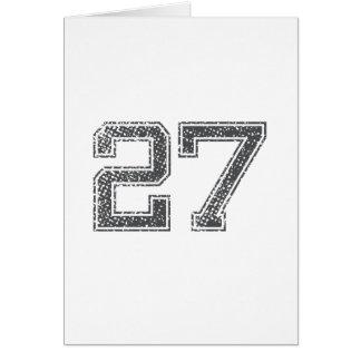 Gray Sports Jersey #27 Card