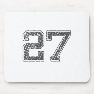 Gray Sports Jersey #27 Mouse Pad