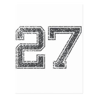 Gray Sports Jersey #27 Postcard