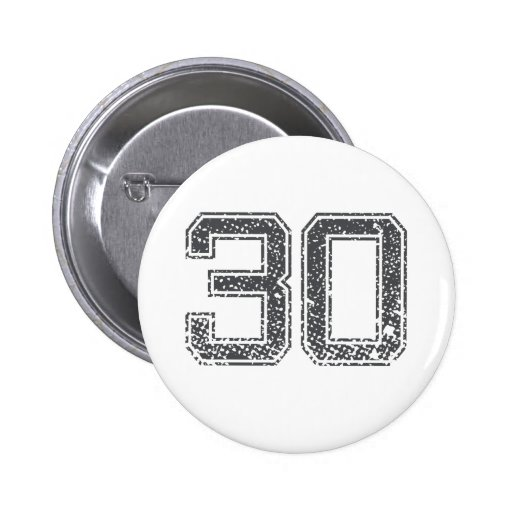 Gray Sports Jersey #30 Button