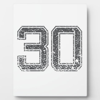 Gray Sports Jersey 30 Photo Plaques