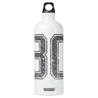 Gray Sports Jersey #30 Water Bottle