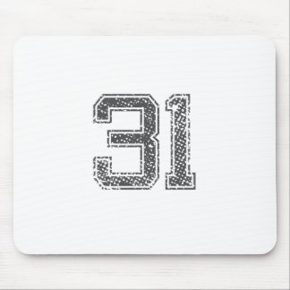 Gray Sports Jersey #31 Mouse Pad