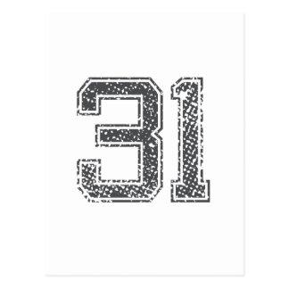 Gray Sports Jersey #31 Postcard