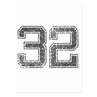 Gray Sports Jersey #32 Postcard